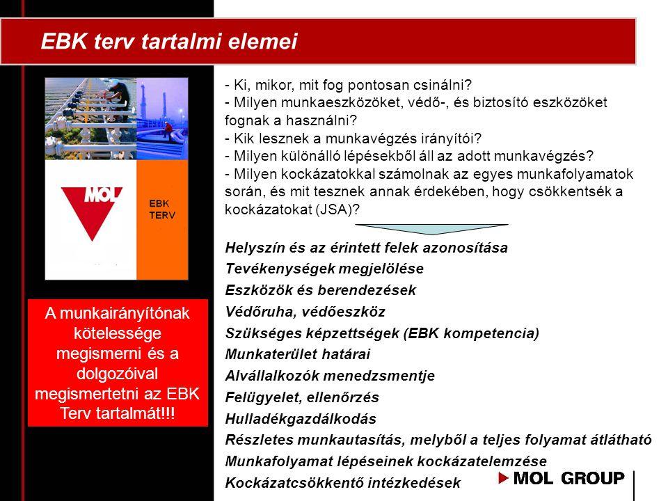 EBK terv tartalmi elemei