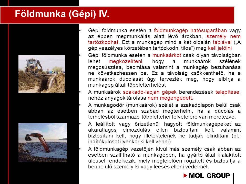 Földmunka (Gépi) IV.