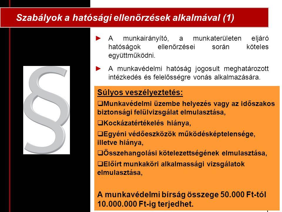 Szabályok a hatósági ellenőrzések alkalmával (1)
