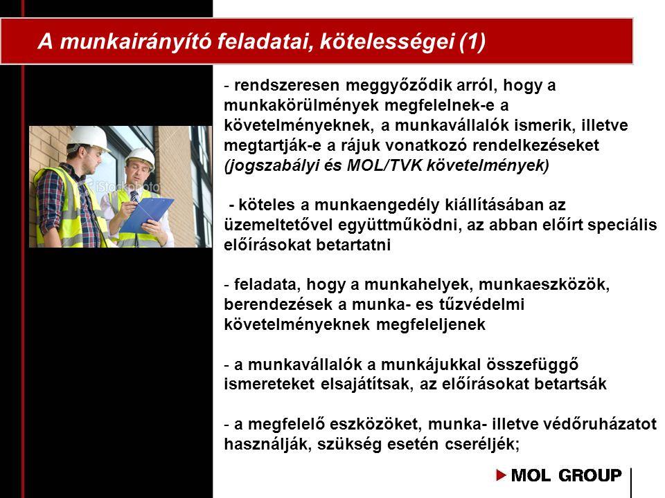 A munkairányító feladatai, kötelességei (1)