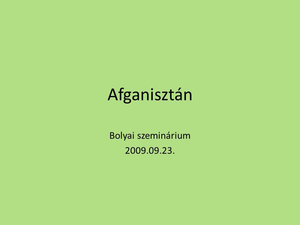 Afganisztán Bolyai szeminárium 2009.09.23.