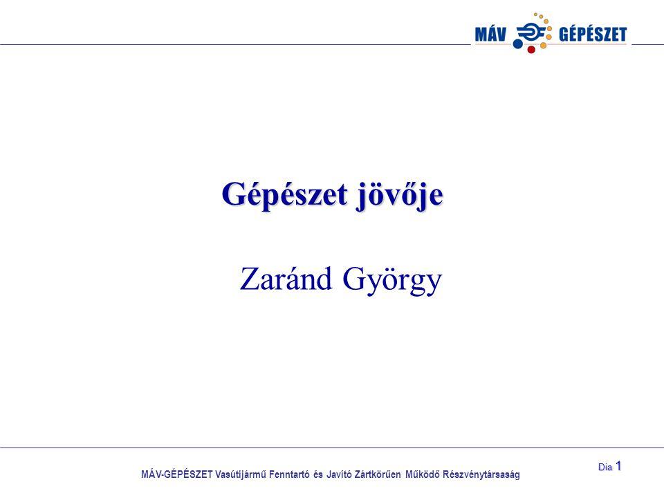 Gépészet jövője Zaránd György