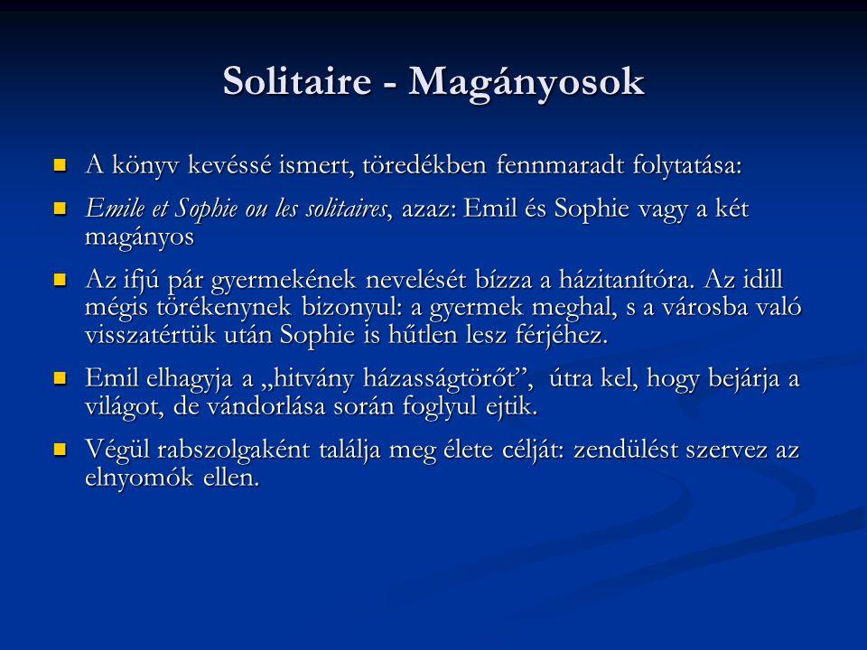 Solitaire - Magányosok