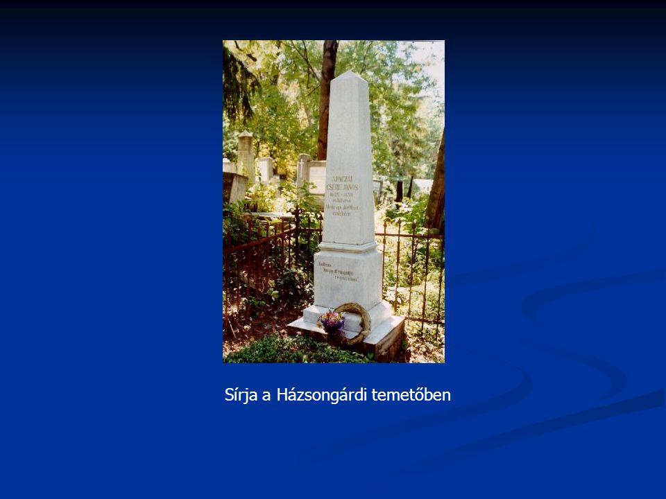 Sírja a Házsongárdi temetőben