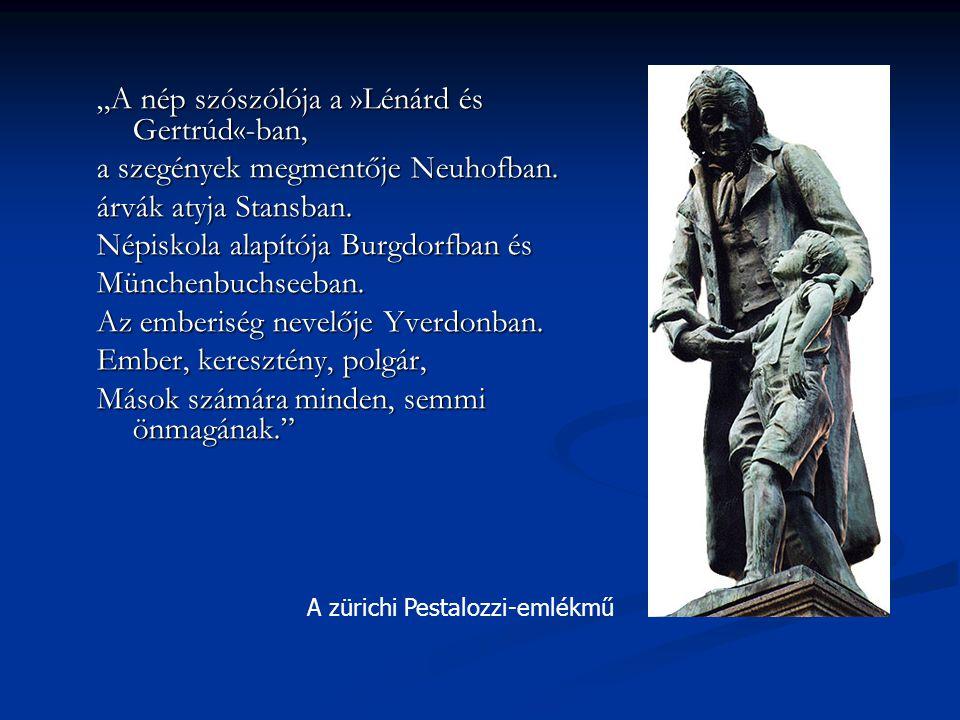 """""""A nép szószólója a »Lénárd és Gertrúd«-ban,"""