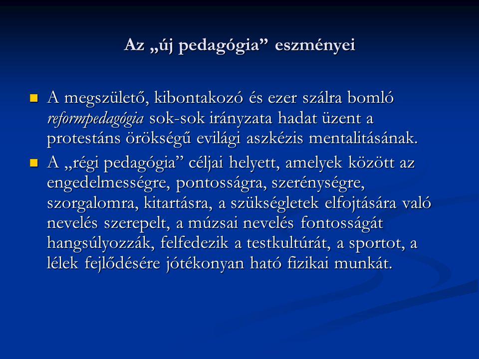 """Az """"új pedagógia eszményei"""