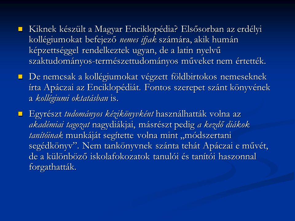 Kiknek készült a Magyar Enciklopédia