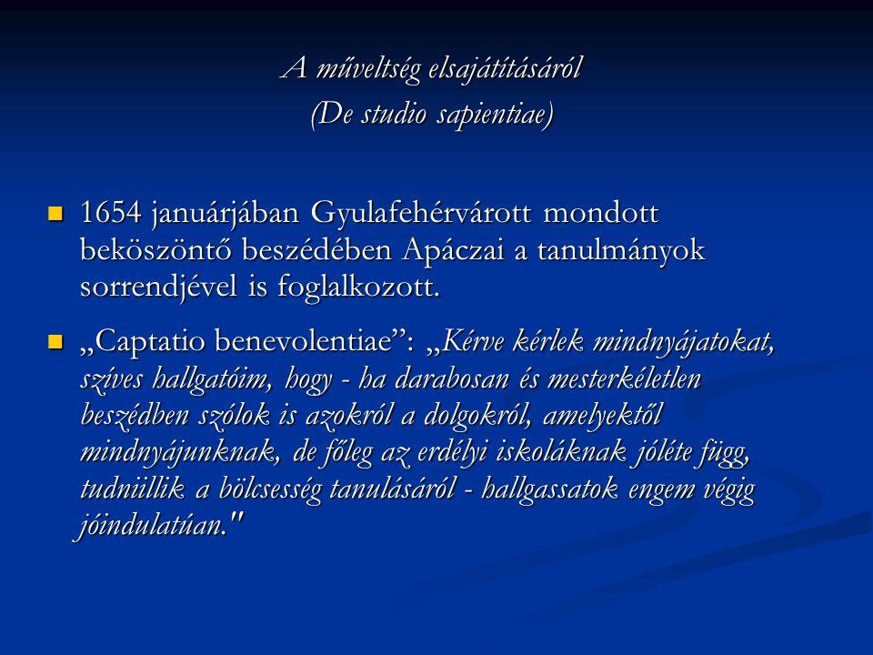 A műveltség elsajátításáról (De studio sapientiae)
