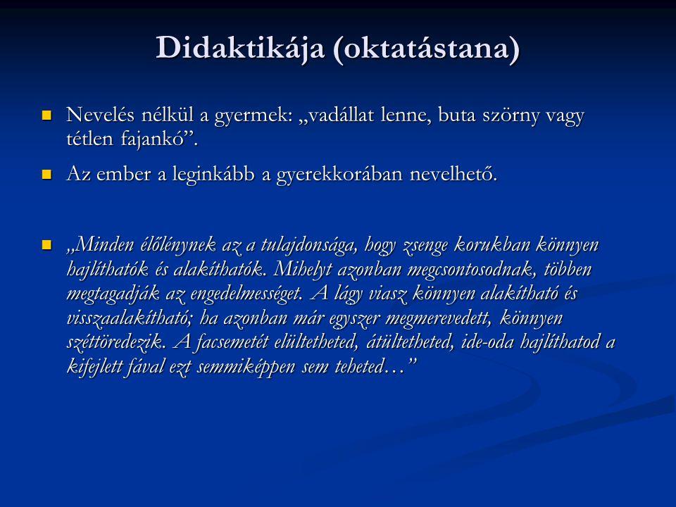 Didaktikája (oktatástana)