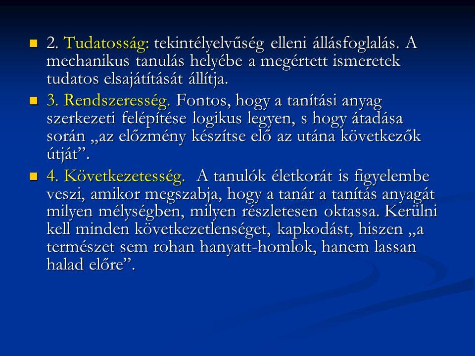 2. Tudatosság: tekintélyelvűség elleni állásfoglalás