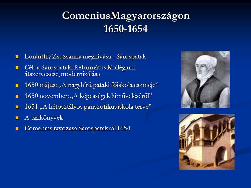 ComeniusMagyarországon 1650-1654