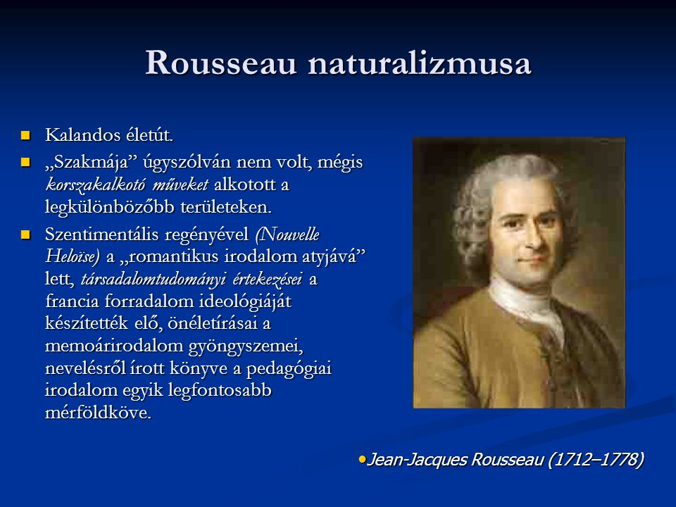 Rousseau naturalizmusa