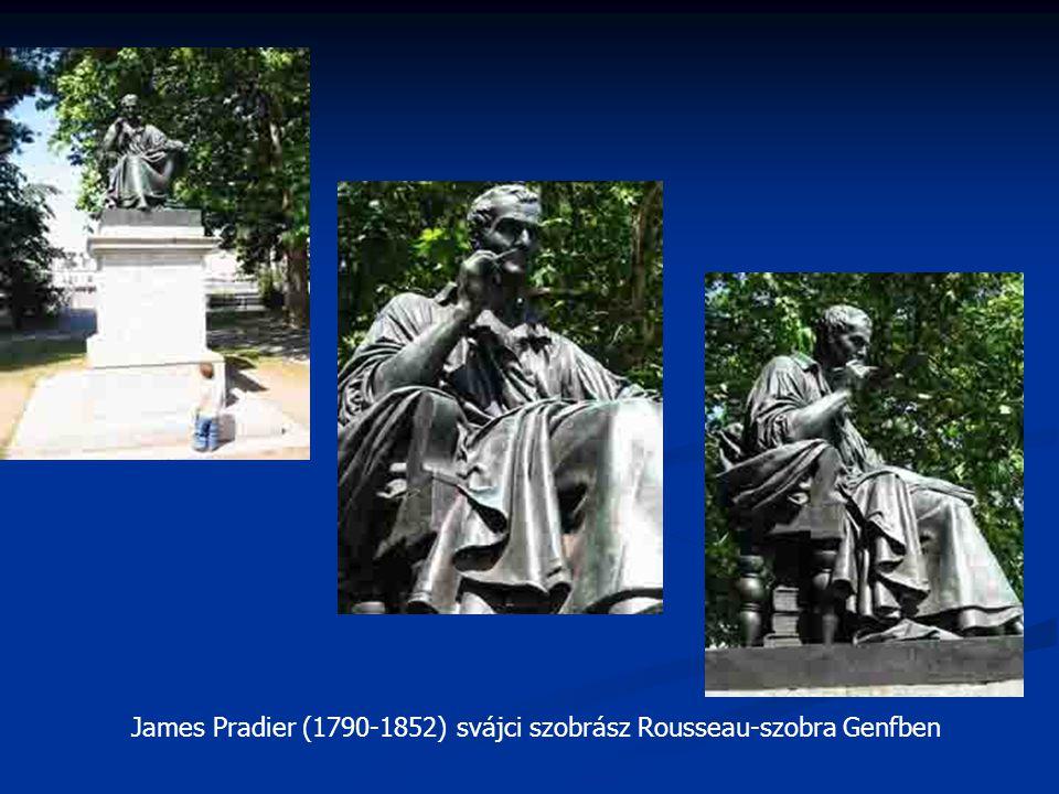 James Pradier (1790-1852) svájci szobrász Rousseau-szobra Genfben