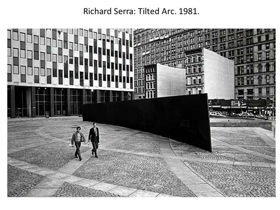 Richard Serra: Tilted Arc. 1981.