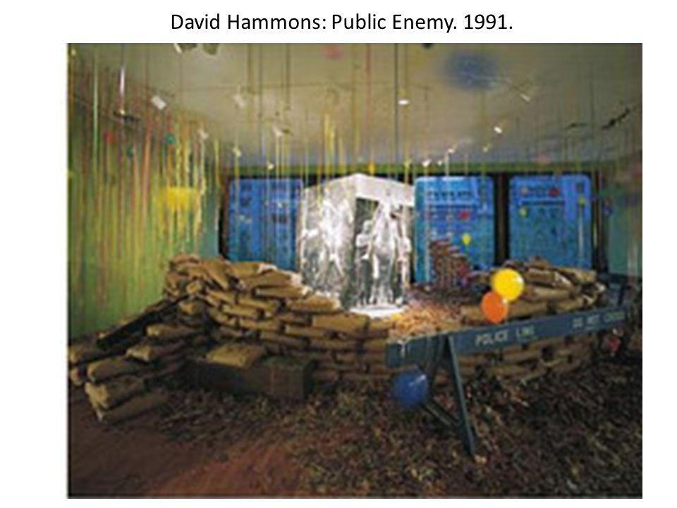 David Hammons: Public Enemy. 1991.