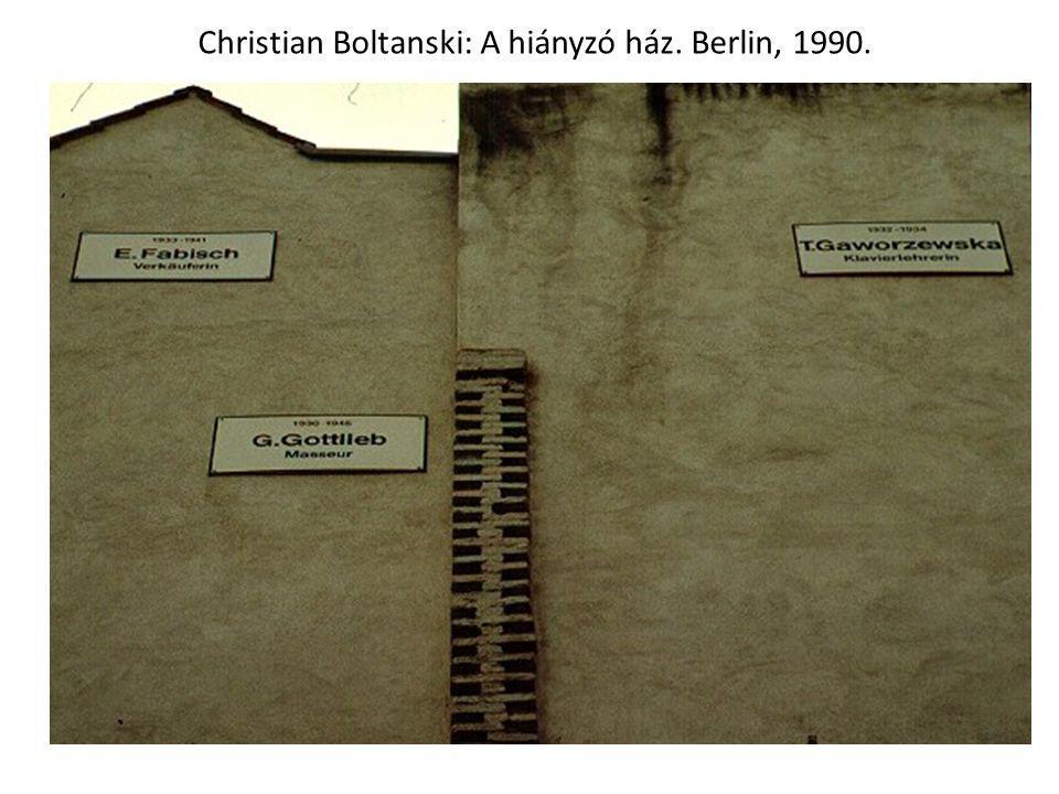 Christian Boltanski: A hiányzó ház. Berlin, 1990.