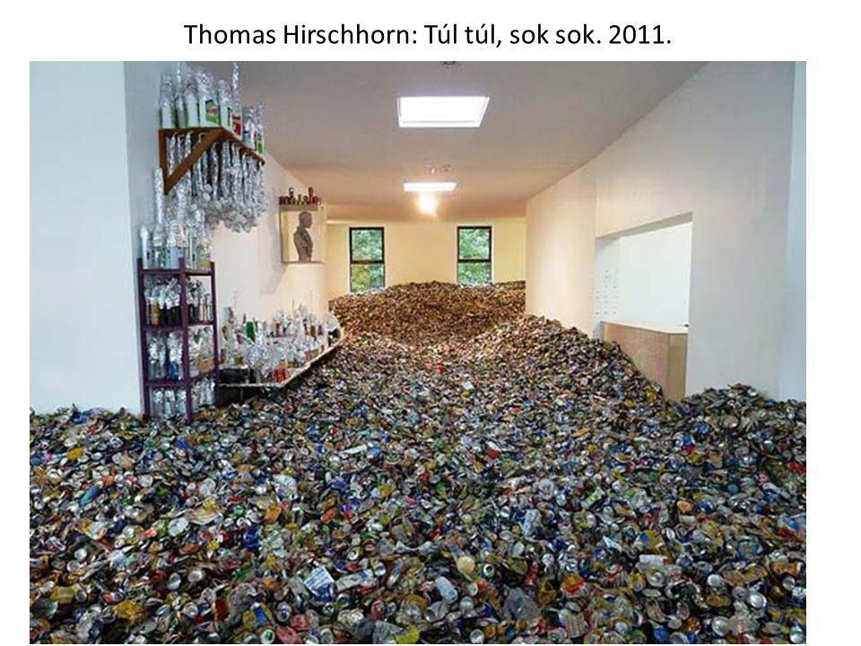 Thomas Hirschhorn: Túl túl, sok sok. 2011.