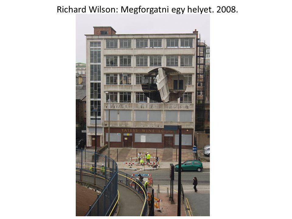 Richard Wilson: Megforgatni egy helyet. 2008.