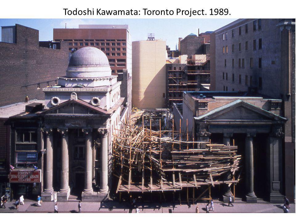 Todoshi Kawamata: Toronto Project. 1989.