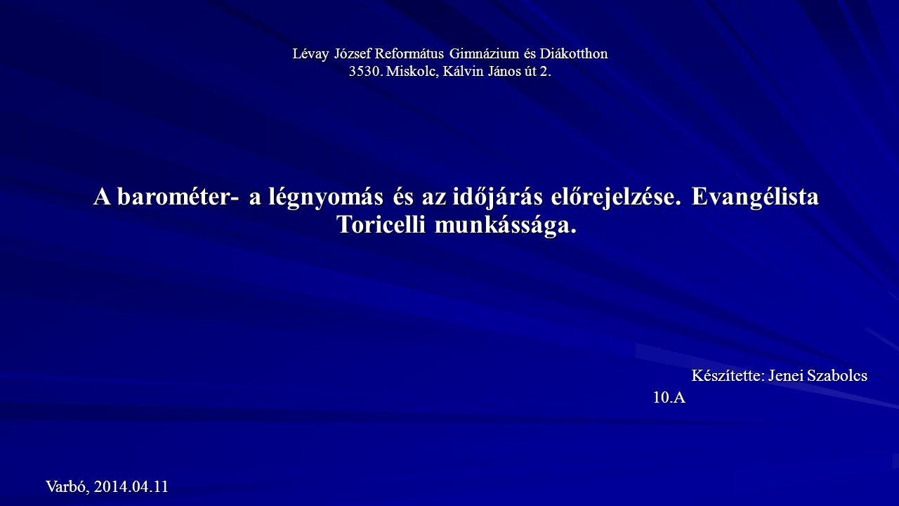 Lévay József Református Gimnázium és Diákotthon 3530