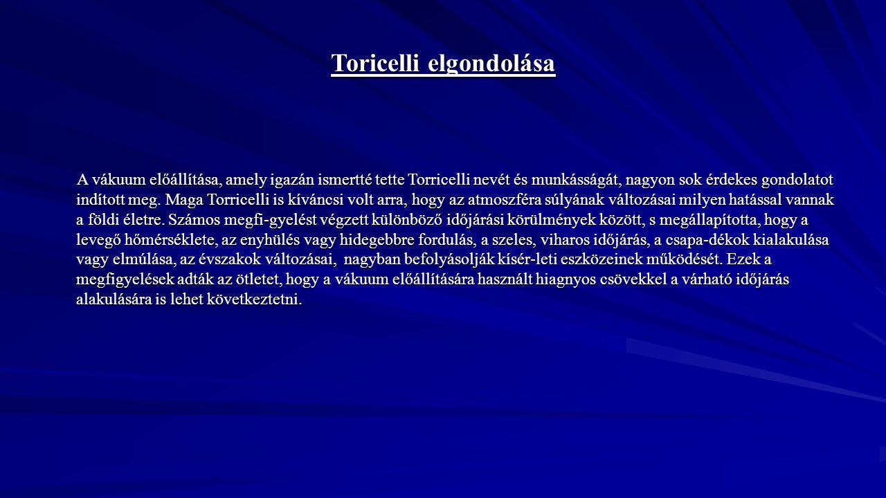 Toricelli elgondolása