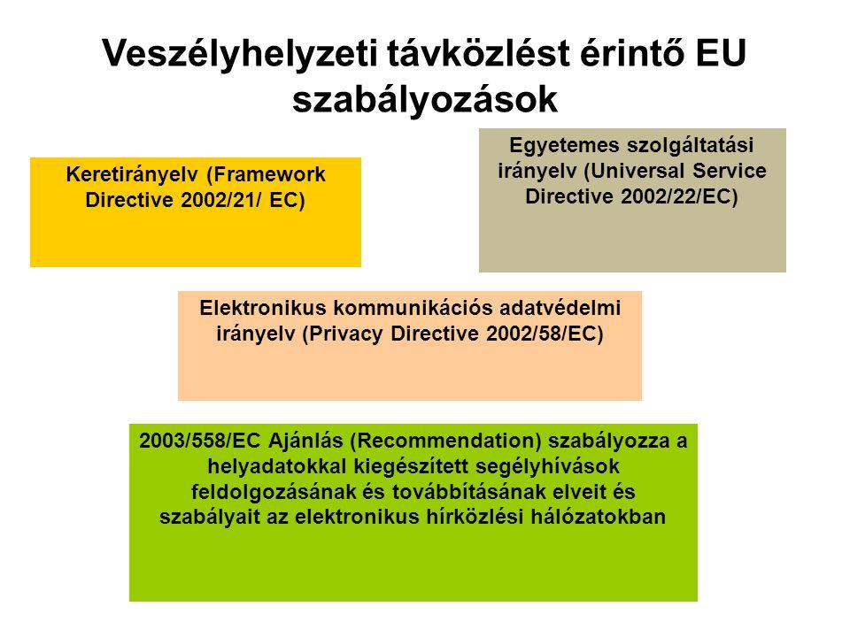 Veszélyhelyzeti távközlést érintő EU szabályozások