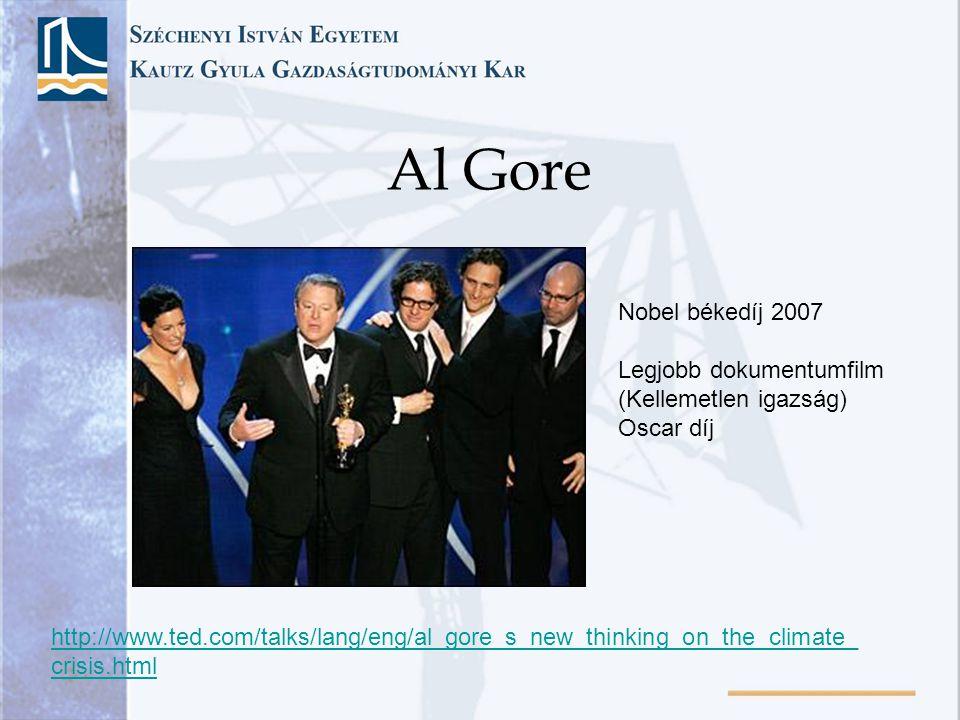 Al Gore Nobel békedíj 2007 Legjobb dokumentumfilm