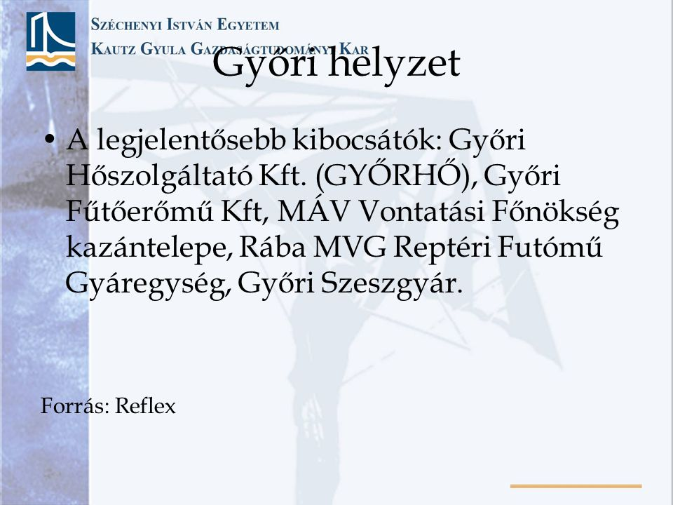 Győri helyzet