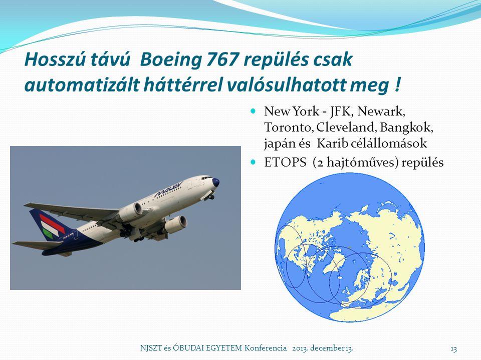 Hosszú távú Boeing 767 repülés csak automatizált háttérrel valósulhatott meg !
