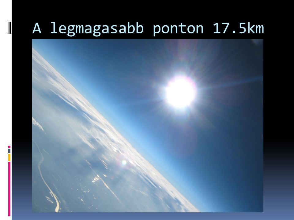 A legmagasabb ponton 17.5km