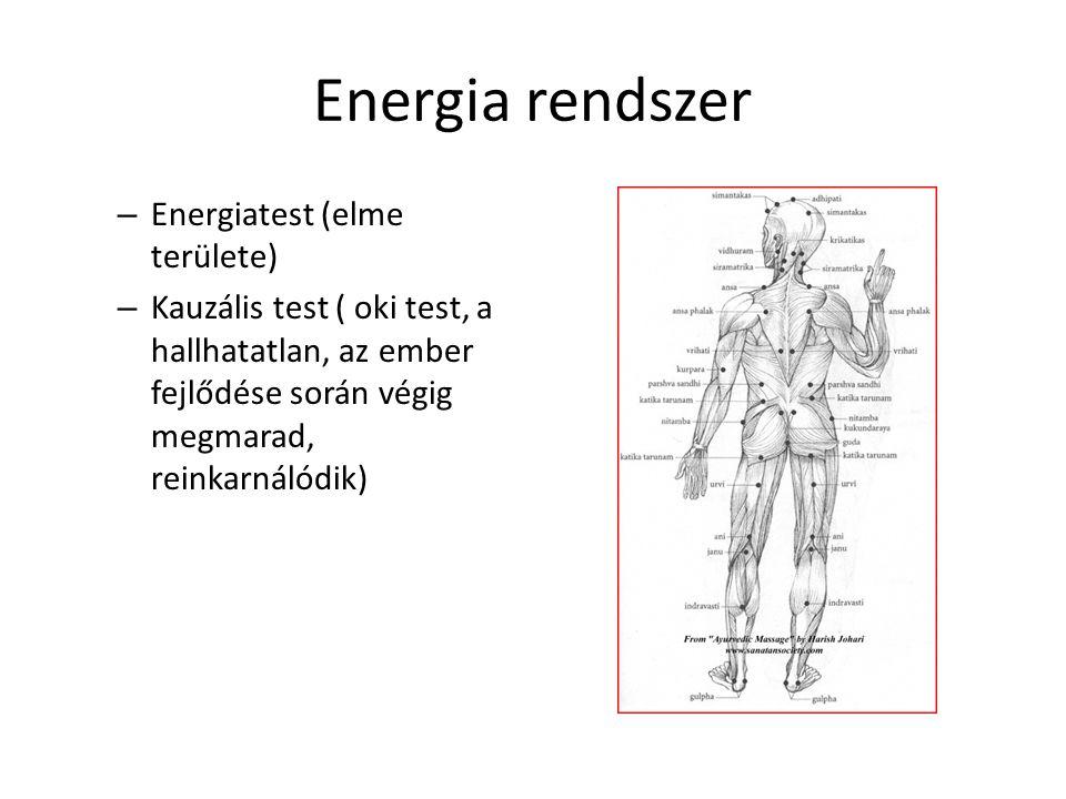 Energia rendszer Energiatest (elme területe)