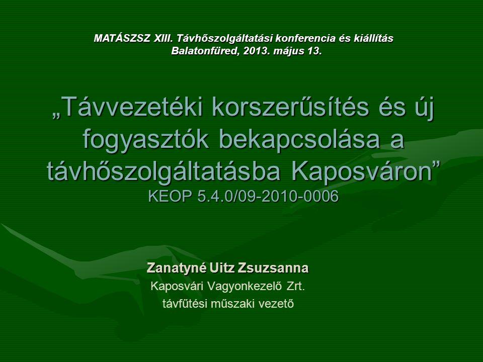 MATÁSZSZ XIII. Távhőszolgáltatási konferencia és kiállítás
