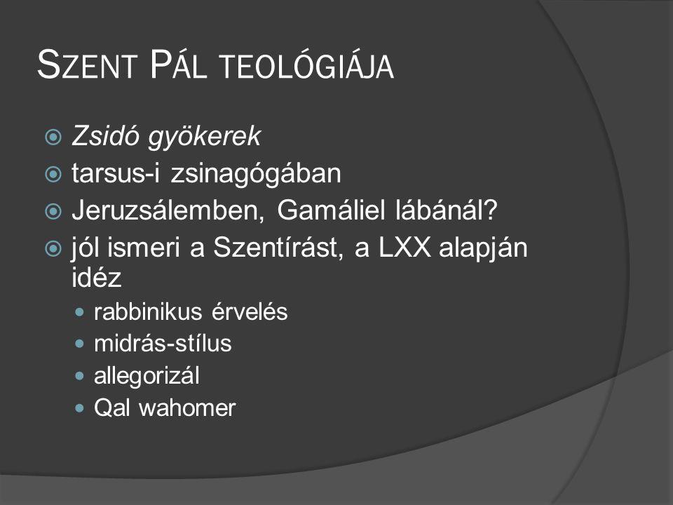 Szent Pál teológiája Zsidó gyökerek tarsus-i zsinagógában