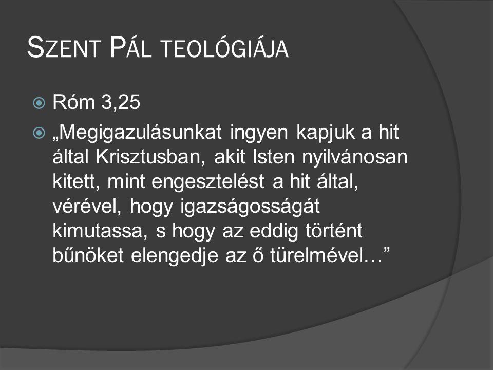Szent Pál teológiája Róm 3,25