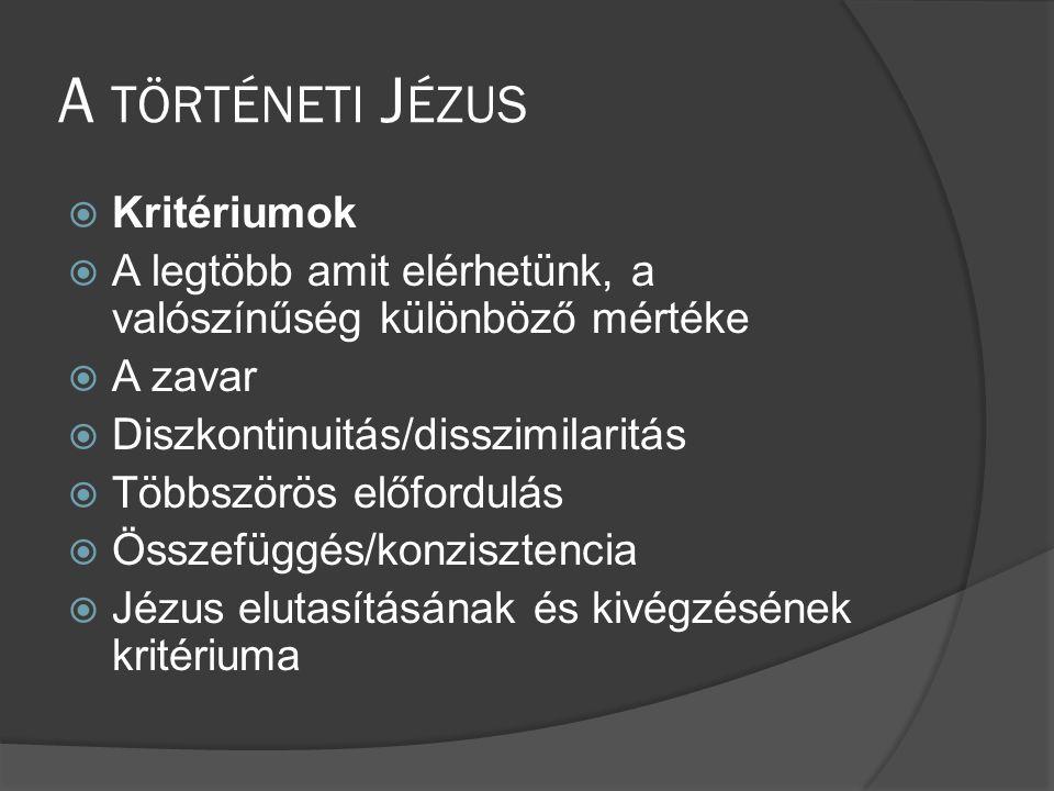 A történeti Jézus Kritériumok