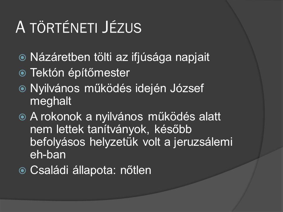 A történeti Jézus Názáretben tölti az ifjúsága napjait