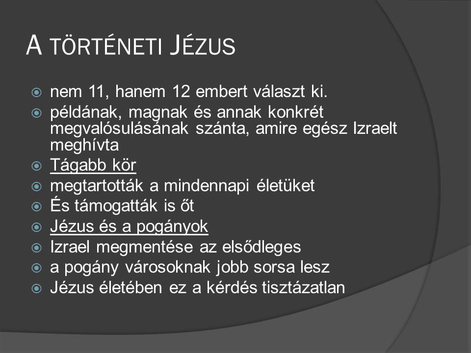 A történeti Jézus nem 11, hanem 12 embert választ ki.