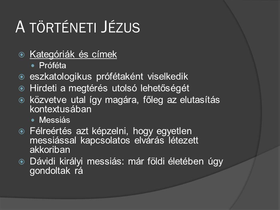 A történeti Jézus Kategóriák és címek