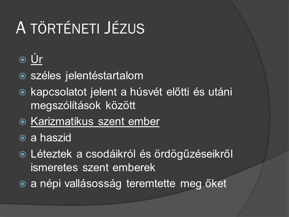 A történeti Jézus Úr széles jelentéstartalom