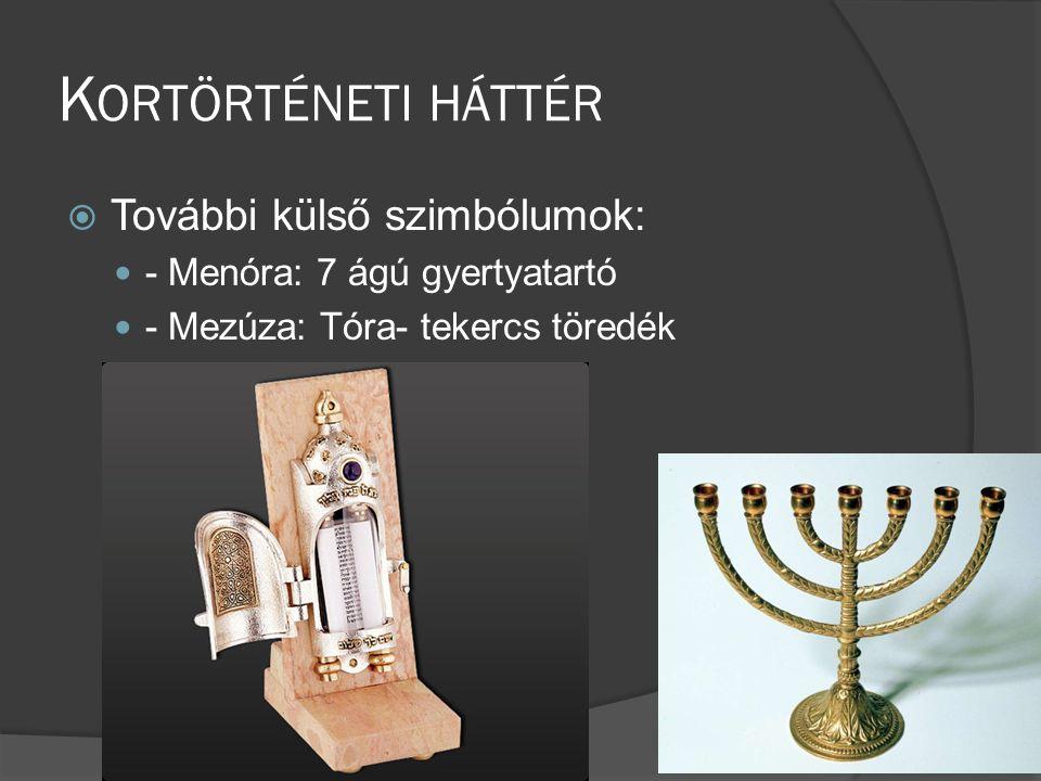 Kortörténeti háttér További külső szimbólumok: