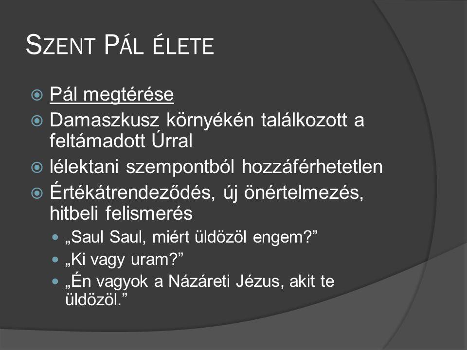 Szent Pál élete Pál megtérése