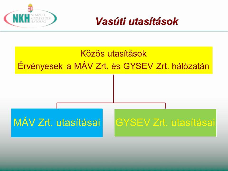 Érvényesek a MÁV Zrt. és GYSEV Zrt. hálózatán