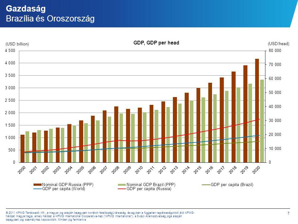 Gazdaság Brazília és Oroszország