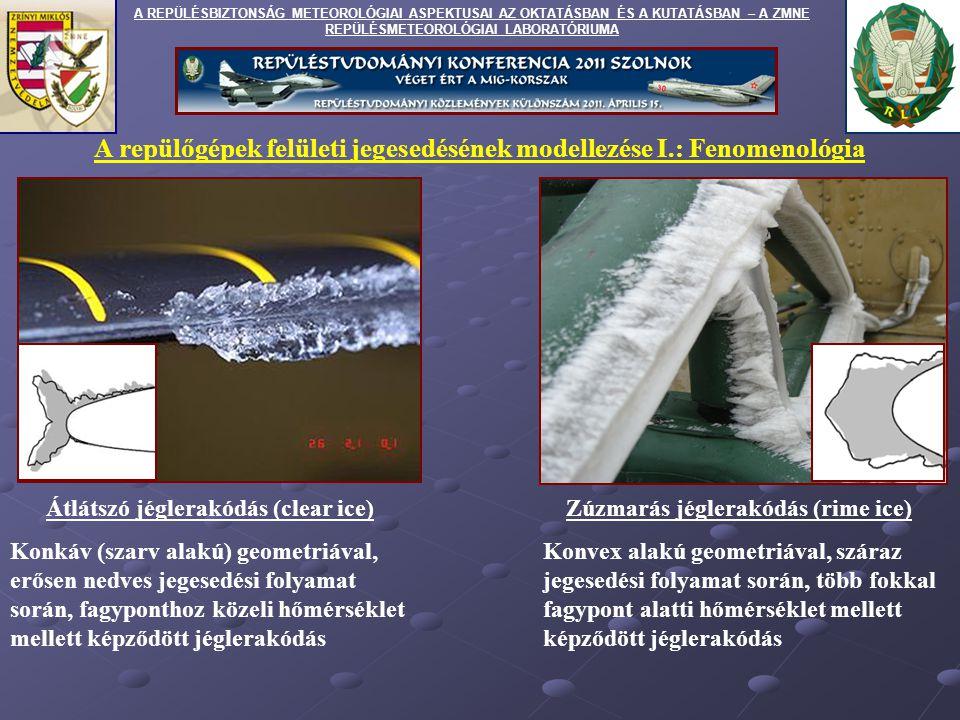A repülőgépek felületi jegesedésének modellezése I.: Fenomenológia