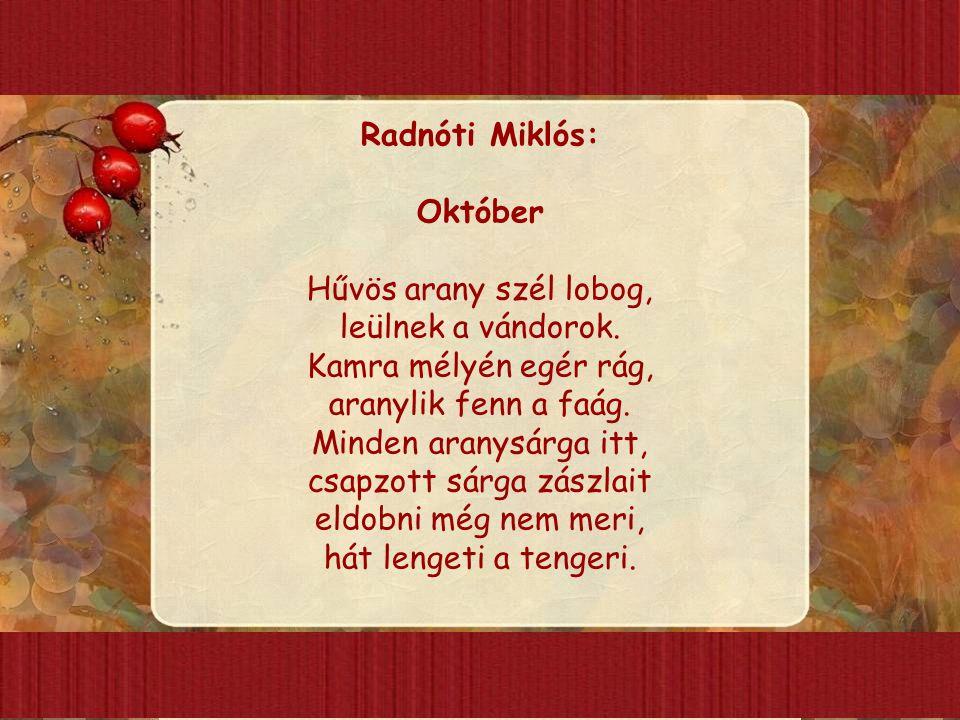 Radnóti Miklós: Október.