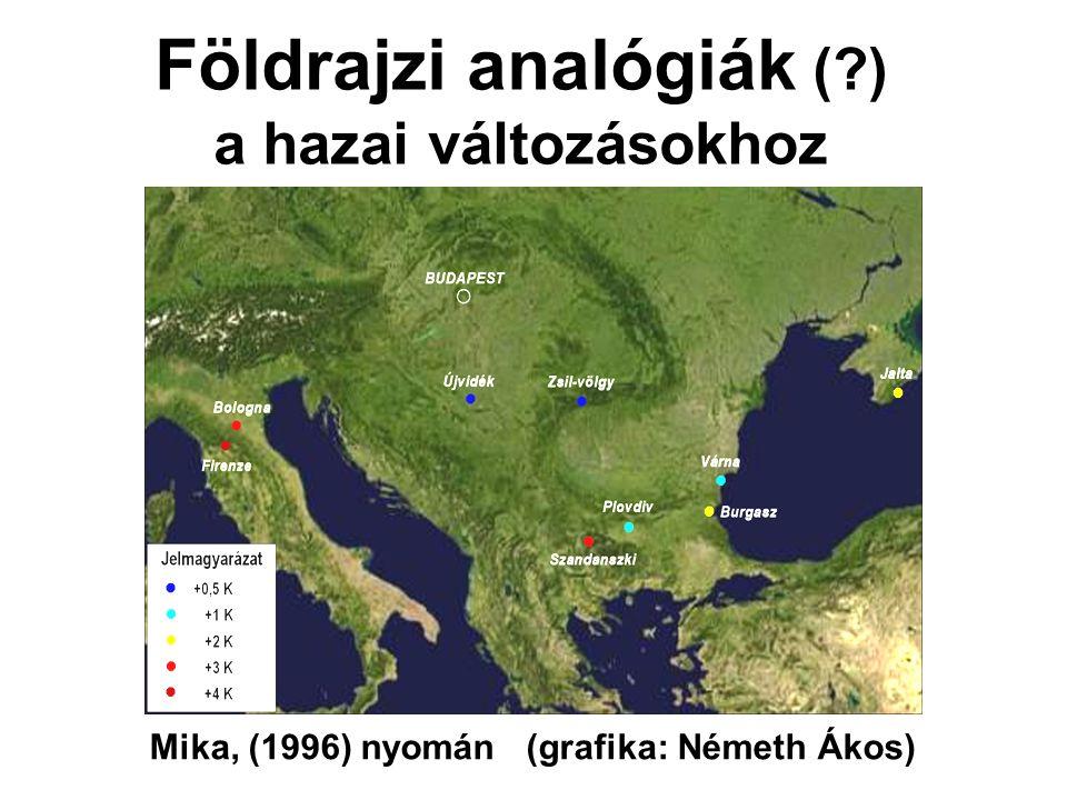 Földrajzi analógiák ( ) a hazai változásokhoz