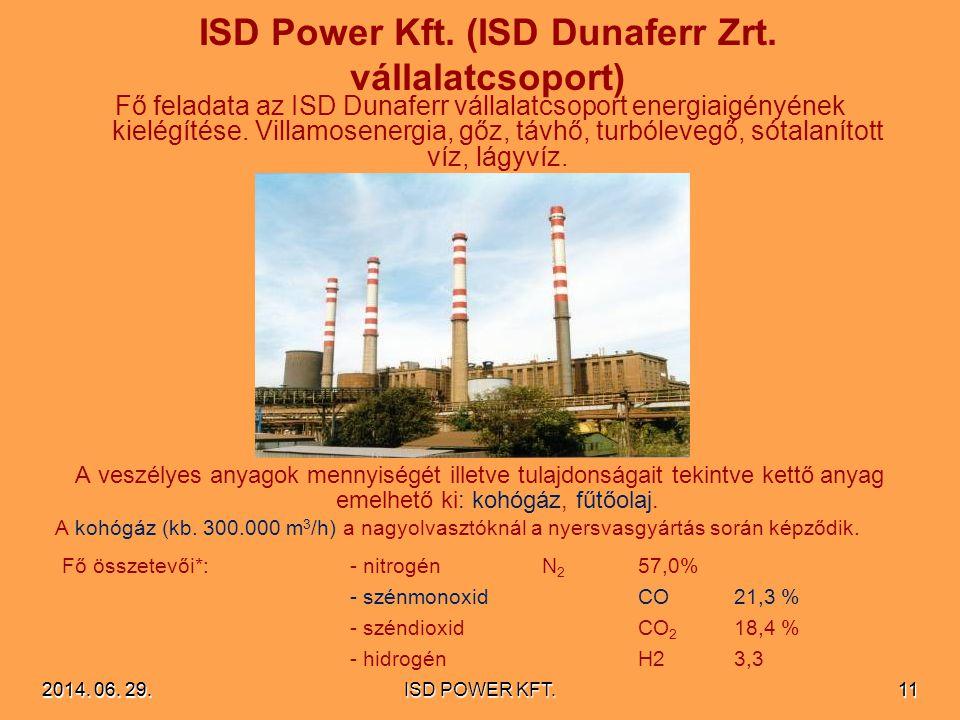 ISD Power Kft. (ISD Dunaferr Zrt. vállalatcsoport)