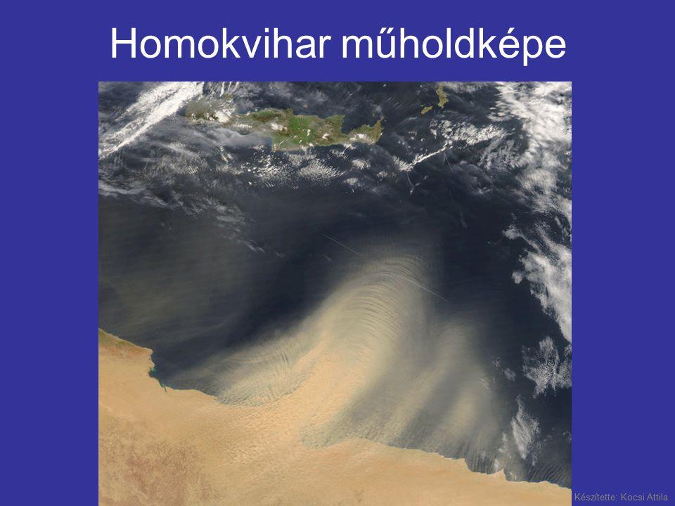 Homokvihar műholdképe