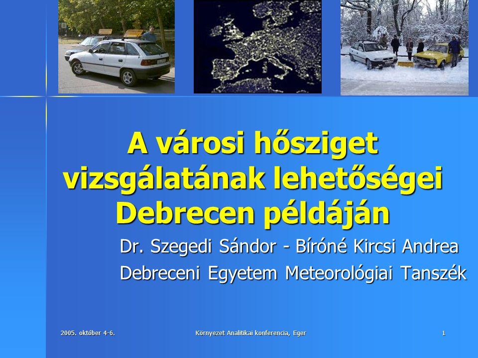 A városi hősziget vizsgálatának lehetőségei Debrecen példáján