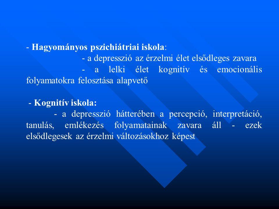 Hagyományos pszichiátriai iskola: